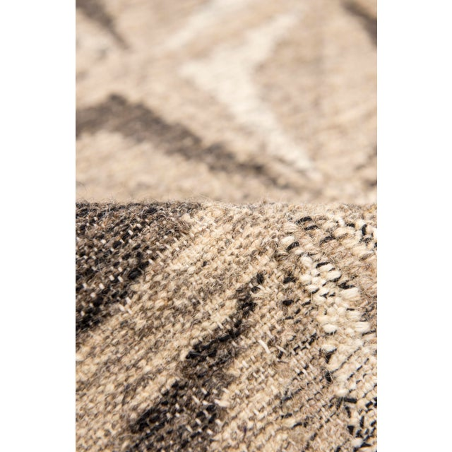 Contemporary Solo Rugs Grit and Ground Collection Contemporary Samoa Hand-Knotted Flatweave Area Rug, Gray, 8' X 10' For Sale - Image 3 of 5