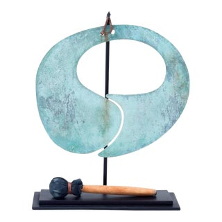 Harry Bertoia Patinated Bronze Gong, 1960s