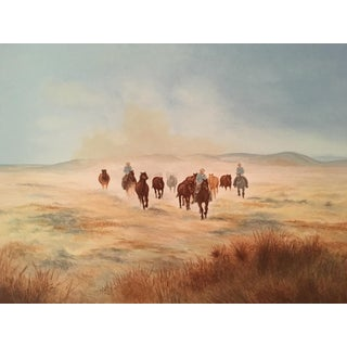 """""""Rounding up the Herd"""" Lithograph Signed and Numbered by Gwendolyn Branstetter For Sale"""