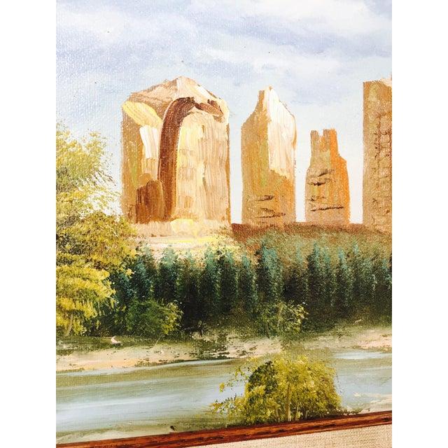 Vintage Southwestern Landscape Oil Painting For Sale - Image 5 of 5