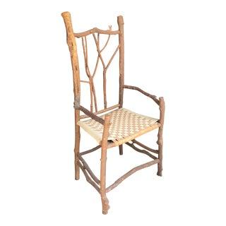 Vintage Daniel Mack Handmade Twig Chair For Sale