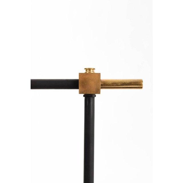 Italian Brass and Matte Black Billiard Lamp For Sale - Image 3 of 5
