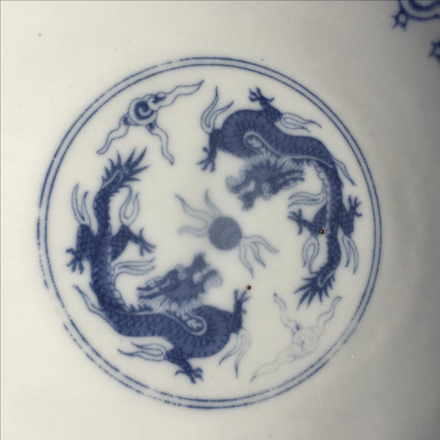 Blue and White Chinoiserie Porcelain Plate - Image 3 of 5