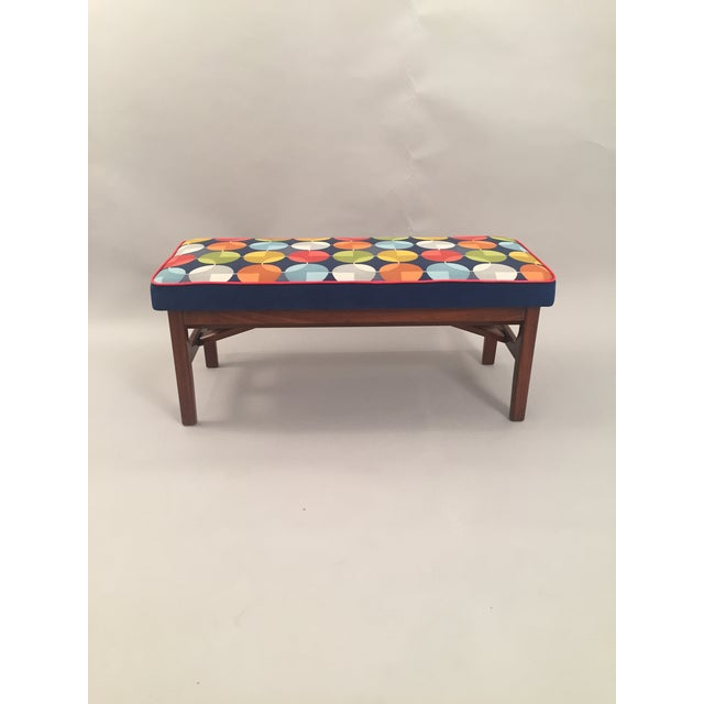 Mid-Century Teak Wood Bench - Image 7 of 8