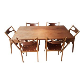 Hans Wegner AT303 with Six CH29 Sawbuck Chairs