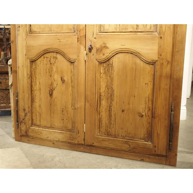 Wood Mid 19th Century Antique French Pine Cabinet Doors For Sale - Image 7 of 12