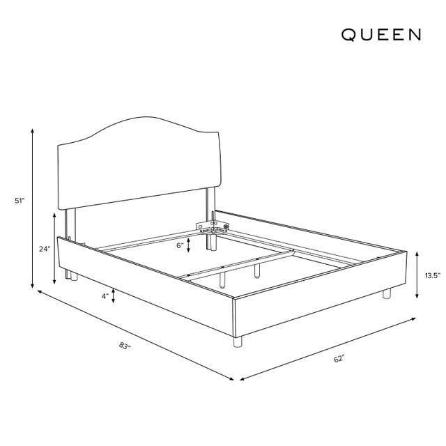 Not Yet Made - Made To Order Queen Bed, Linen Zebra Cream Black For Sale - Image 5 of 6