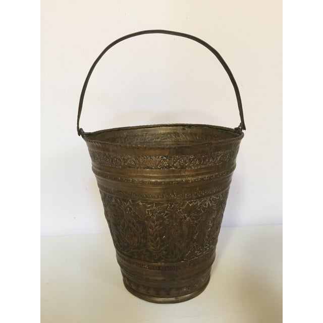 Anglo-Raj Mughal Bronzed Copper Vessel Bucket For Sale In Los Angeles - Image 6 of 12