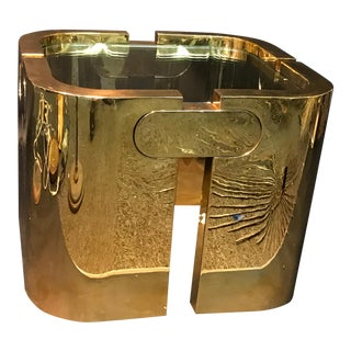 AMAZING GOLDEN BRONZE MODERNIST PUZZLE TABLE