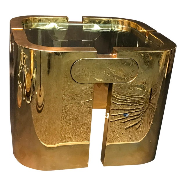 AMAZING GOLDEN BRONZE MODERNIST PUZZLE TABLE - Image 1 of 11