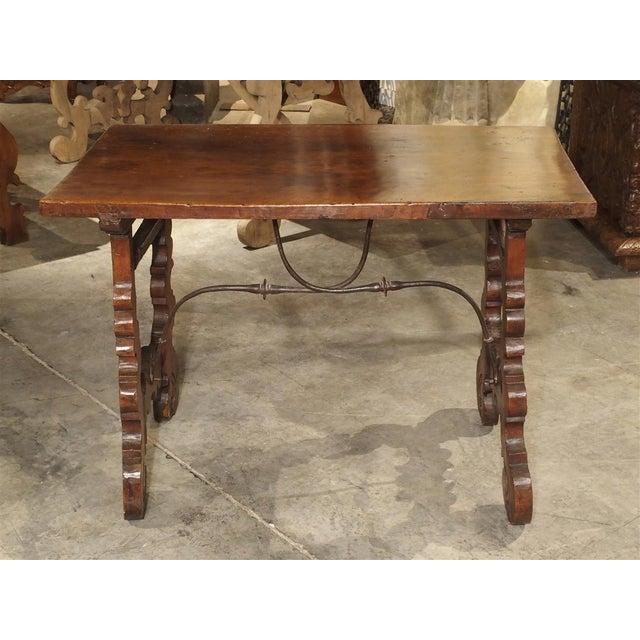 Italian Circa 1750 Italian Walnut Wood Writing Table For Sale - Image 3 of 13