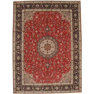 Pasargad N Y Persian Tabriz Silk & Wool Pile Rug - 10′ × 13′6″ For Sale