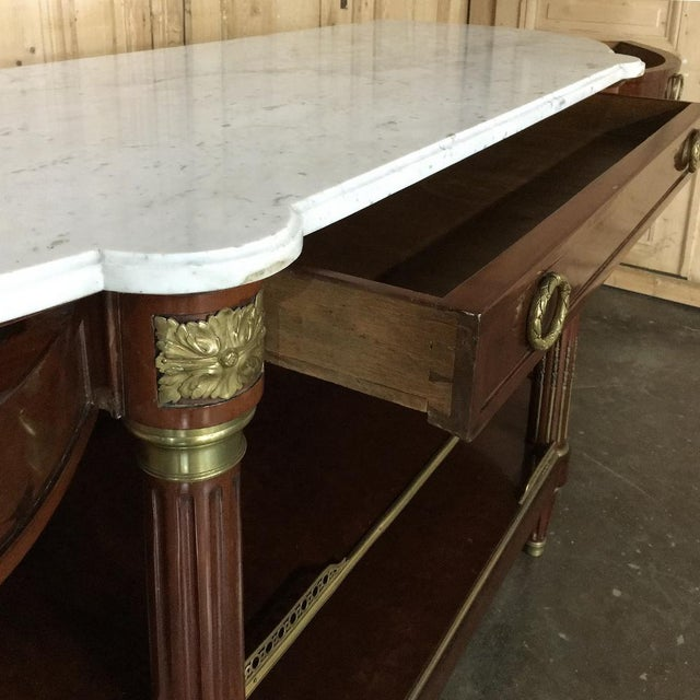 19th Century Parisienne Signed ~Mercier ~ Carrara Marble Top Display Buffet For Sale In Dallas - Image 6 of 9