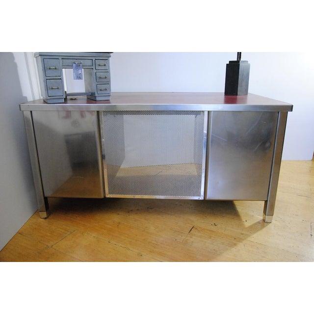 1940's ArtMetal Polished Steel Desk - Image 7 of 7