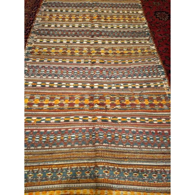 Textile Vintage Uzbek Kilim Rug - 3′7″ × 6′7″ For Sale - Image 7 of 10