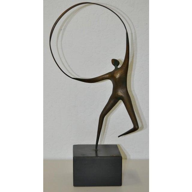Curtis Jere Bronze Hoop & Figure - Image 2 of 5
