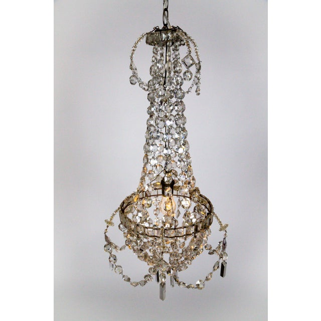 Delicate Crystal & Wire French Regency Tent Chandelier For Sale - Image 4 of 13