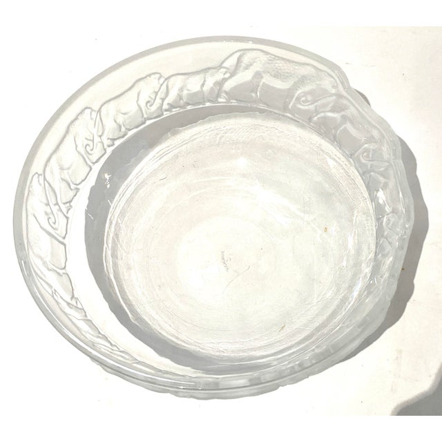 Art Deco Revival Nachtmann Safari Leopard Bowl Frosted and Clear Lead Crystal For Sale - Image 10 of 13