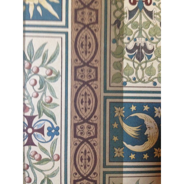 Decorative Ceiling German Chromo Lithograph - Image 3 of 5