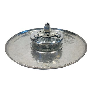 1950s Aluminum Chip and Dip Tray For Sale