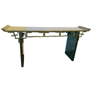 Tessellated Enrique Garcel Console / Alter Table, Mid-Century Modern For Sale