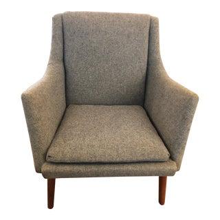 1960s Vintage Tove & Edvard Kindt-Larsen for Gustav Bertelsen Upholstered Club Chair For Sale