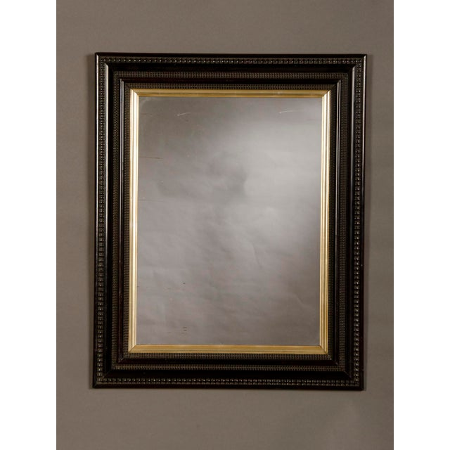 Lovely Antique Dutch Ebonized Black Frame Mirror circa 1875 (25 1/2 ...