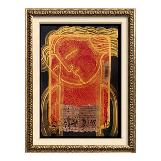 Late 20th Century Beethoven Signed Ltd Ed Mixed Media Painting For Sale