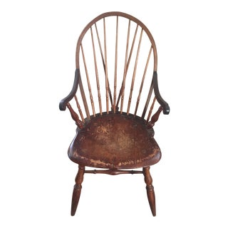 Late 18th-Century Rhode Island Windsor Brace-Back Chair For Sale