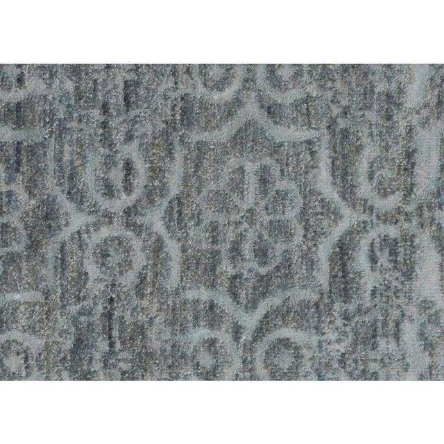 "Kafkaz Peshawar Rosalia Gray/Gray Wool & Viscouse Rug - 3'11"" X 5'9"" For Sale - Image 4 of 8"