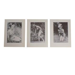 Vintage Ltd. Ed. Photogravures - Female Nudes - 1965 - Folio Size - Set of 3 For Sale
