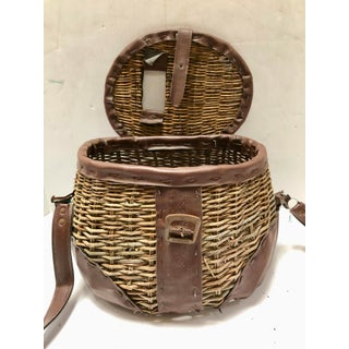 1940s Vintage Handcrafted Creel Fishing Basket Preview