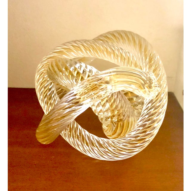 Murono Glass Zanetti Twisted Love Knot For Sale In New York - Image 6 of 6