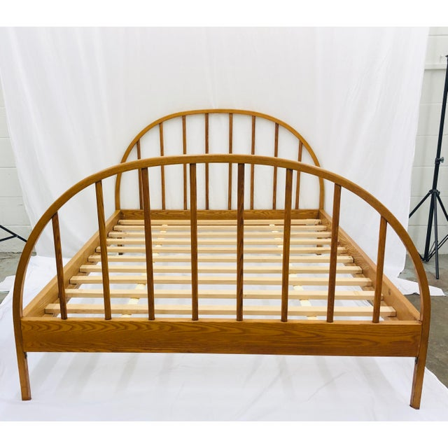Mid-Century Modern Vintage Mid Century Modern Danish Style Wooden Bed For Sale - Image 3 of 13