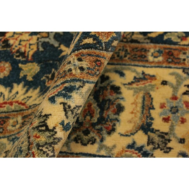 Shabby Chic Istanbul Gilbert Teal/Ivory Turkish Hand-Knotted Rug -4'2 X 5'11 For Sale - Image 4 of 8