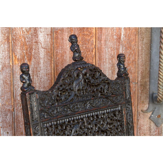 Anglo-Indian Intricate Carved Chair For Sale - Image 9 of 12