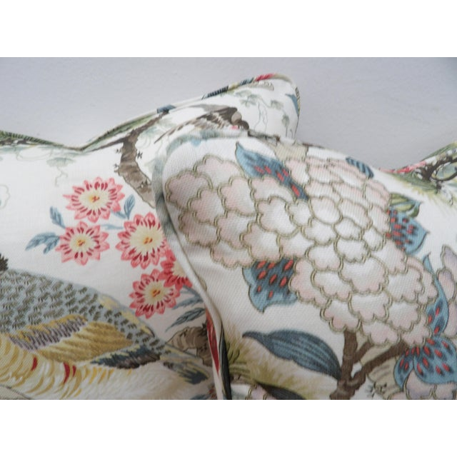 Scalamandre Chinoiserie Scalamandre Shen Yang Linen Pillows - a Pair For Sale - Image 4 of 5