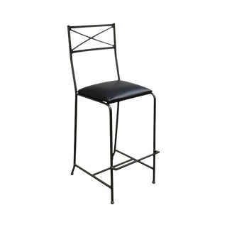 Quality Iron X Back Barstool For Sale