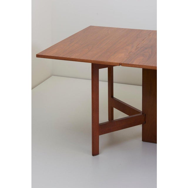 1950s George Nelson Gate-Leg Dining Table Model 4656 by Herman Miller in Walnut For Sale - Image 5 of 13