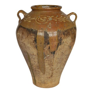 Early 19th c./Early 20th Italian Olive Jar c. 1810-1910 For Sale