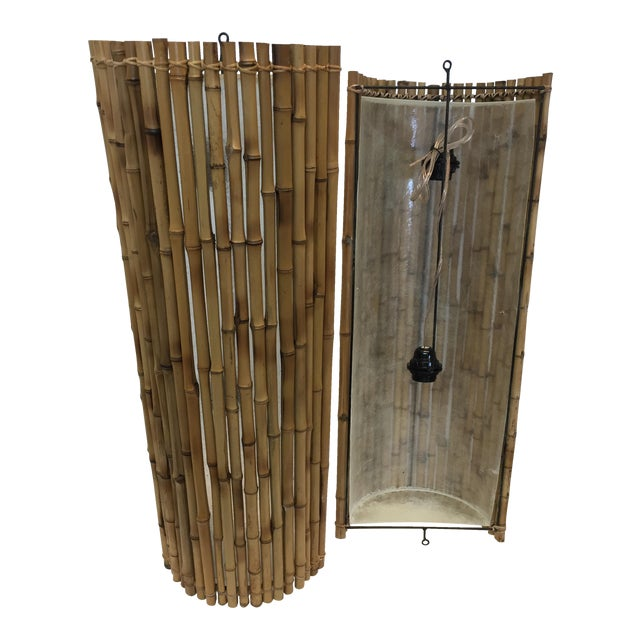 Balinese Bamboo Wall Sconce. Handmade from Bali, excellent item, excellent condition. Price per unit, 2 available.