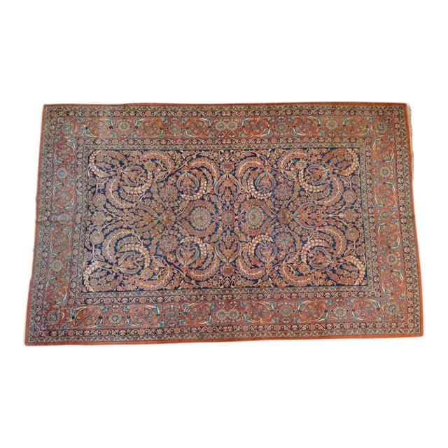 "Vintage Persian Sarouk Rug - 6'11"" X 10'11"" - Image 1 of 11"