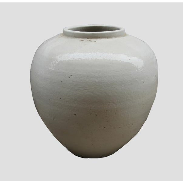 This round vintage style white pottery is handmade and has an earthy look. Each piece is different. It can used either...