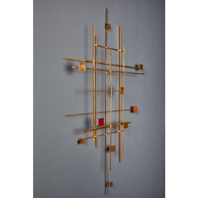 Enamel and Gold Leaf Sculpture by Robert Hogue For Sale - Image 4 of 8