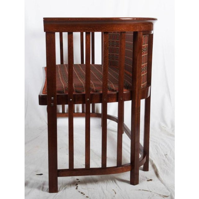 Antique Bentwood Seat by Josef Hoffmann for Thonet For Sale - Image 9 of 11
