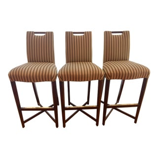 Donghia Studio X Bar Chairs - Set of 3 For Sale