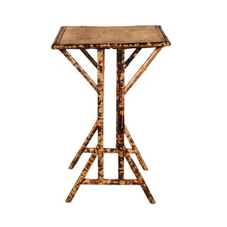 Victorian Tiger Bamboo Side Table For Sale