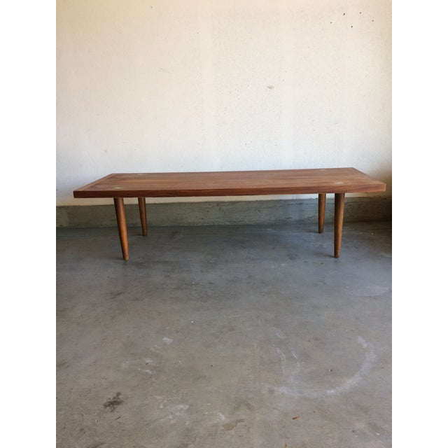Mid-Century Modern Walnut Coffee Table by American Of Martinsville - Image 4 of 5