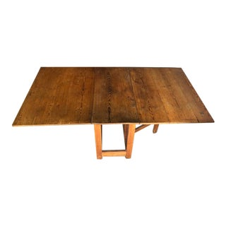 Pine Continental Drop Leaf Dining Table For Sale