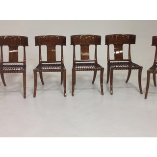 Mid-Century Klismos Style Dining Chairs - Set of 6 Preview